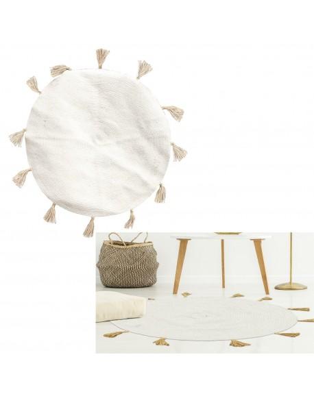 Dywan okrągły bawełniany z chwostami Sanya