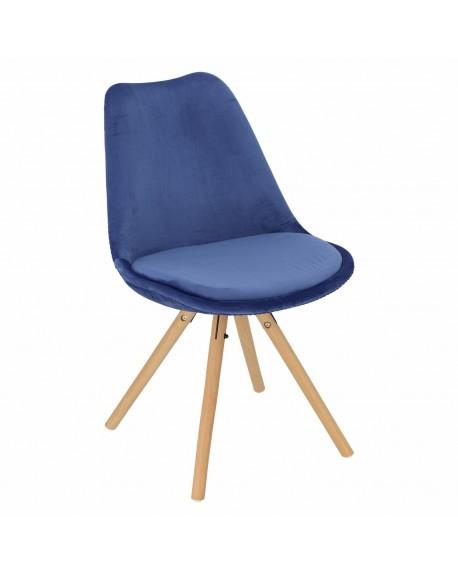 Krzesło Nord welwetowe granatowe