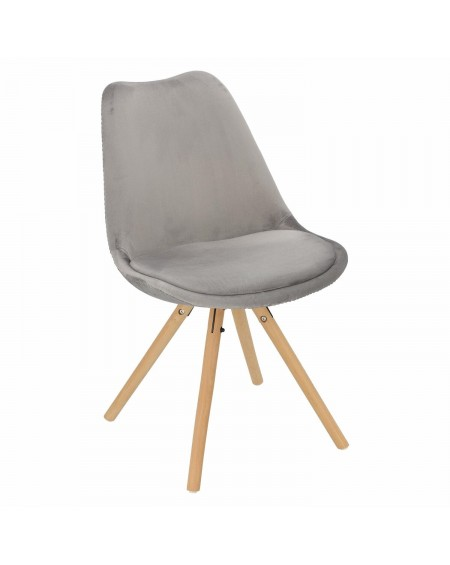 Krzesło Nord welwetowe szare