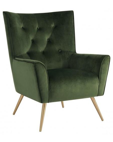 Fotel Bodiva VIC Dark Green/Gold