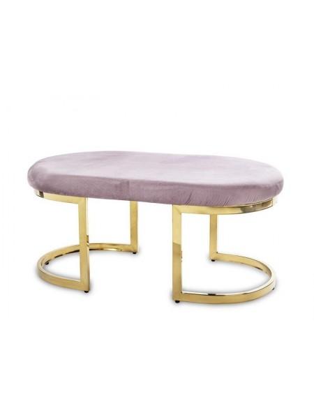 Ławka siedzisko na złotej podstawie Oval