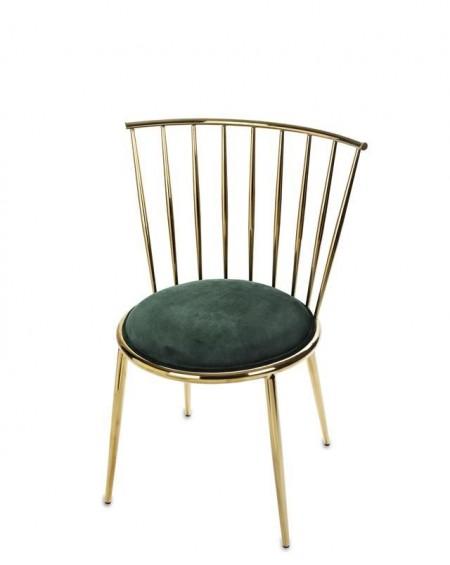 Krzesło metalowe złote połysk Carlito