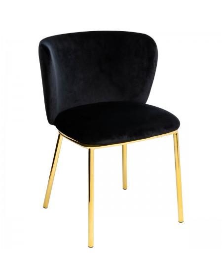Krzesło welurowe Manta
