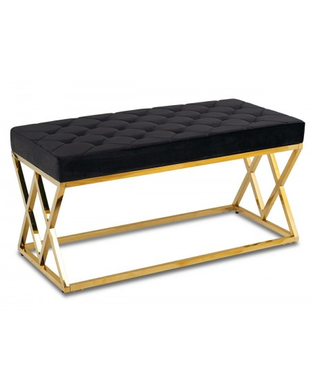 Siedzisko ławka pikowana Diamond gold