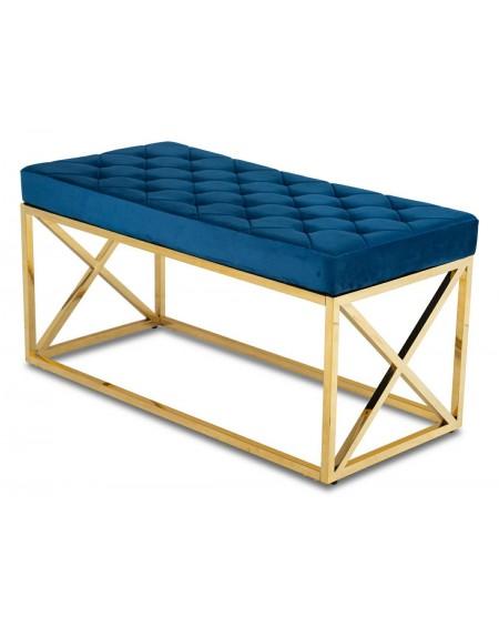 Ławka siedzisko na złotej podstawie Nelly