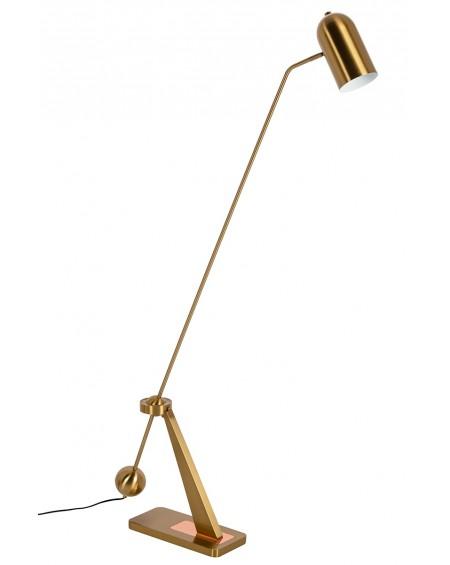 Lampa podłogowa CRANE złoto-miedziana