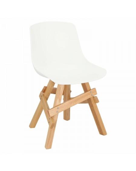 Krzesło na drewnianej podstawie Woodrow