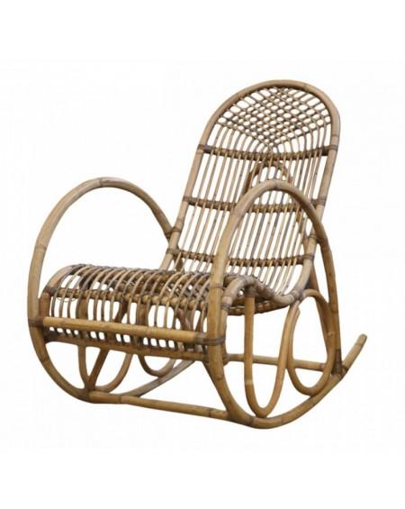 Fotel bujany rattanowy Boho Swing