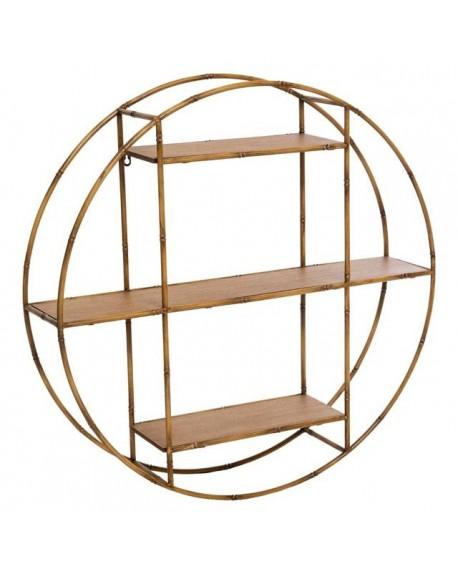 Półka okrągła metalowo-bambusowa Olimpia