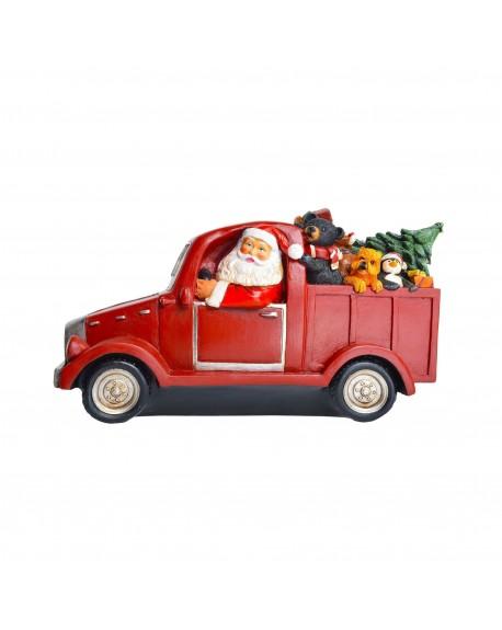 Mikołaj a aucie LED 35 cm