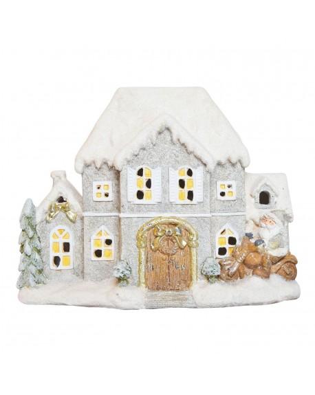 Domek świąteczny podświetlany 41 cm