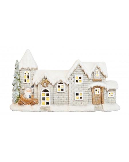 Domek świąteczny podświetlany 54 cm