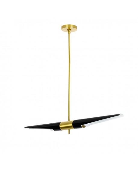 Lampa wisząca APOLLO 1 czarna - szczotkowane złoto