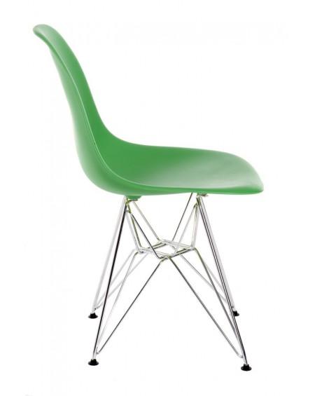 Krzesło Comet chrome dark green