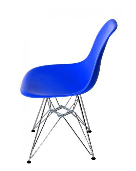 Krzesło Comet chrome dark blue
