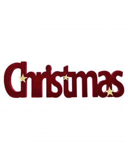 Napis welurowy Christmas