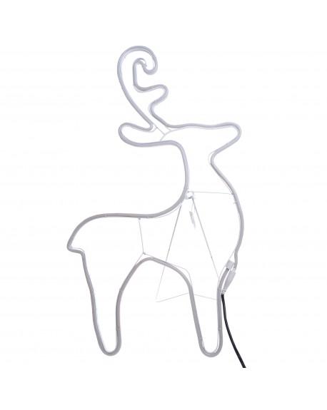 Renifer neon LED 73 cm