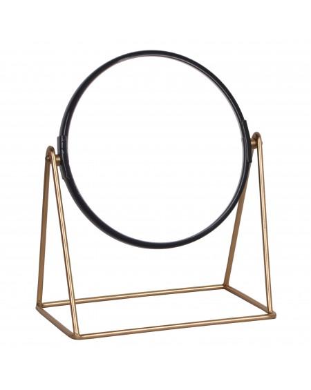 Lusterko kosmetyczne złoto-czarne