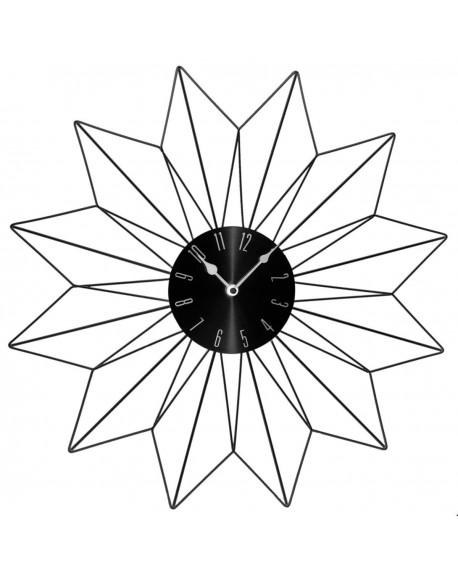 Zegar ścienny czarny SUN 50 cm