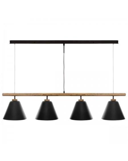 Lampa wisząca z drewnianą belką 132 cm Jandya