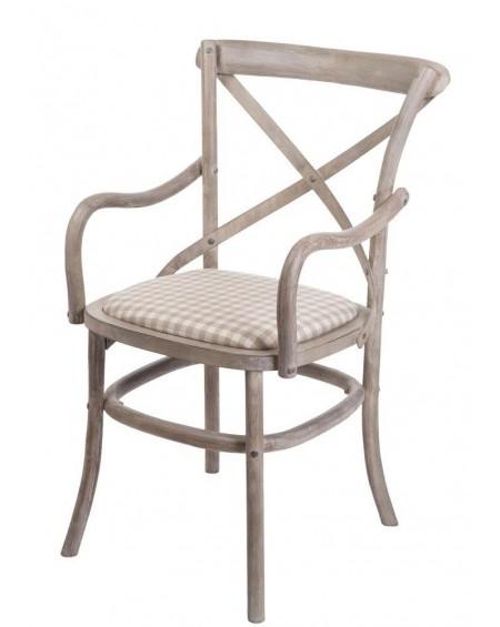 Krzesło drewniane z podłokietnikami