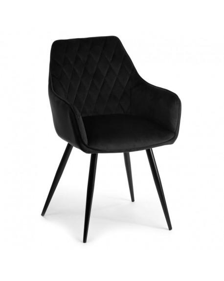 Krzesło welwet pikowane Ladelle