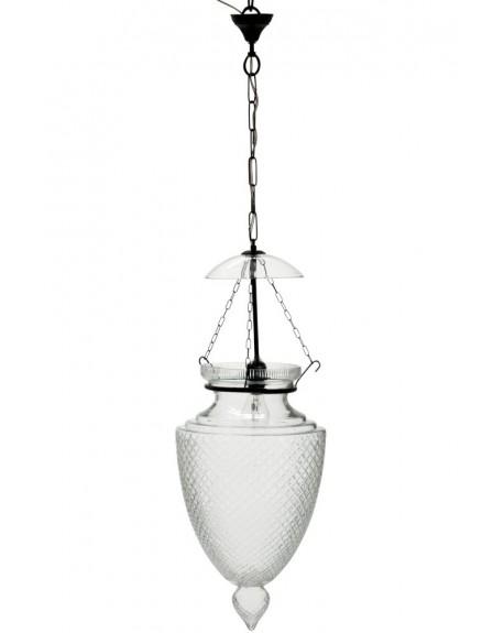 Lampa wisząca szklana większa