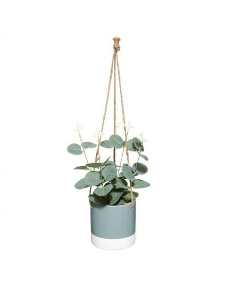 Sztuczna roślina w wiszącej osłonce
