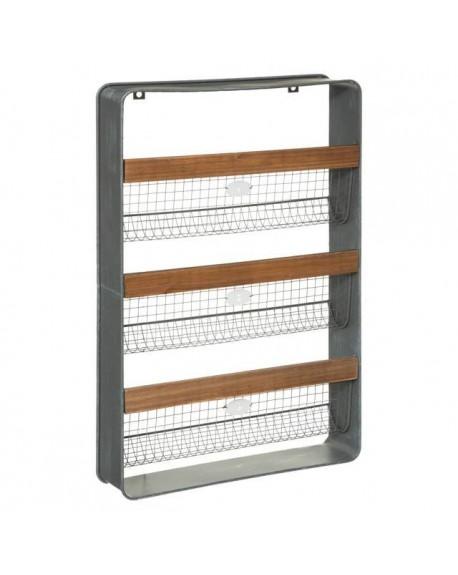Półka metalowo-drewniana NIVALA