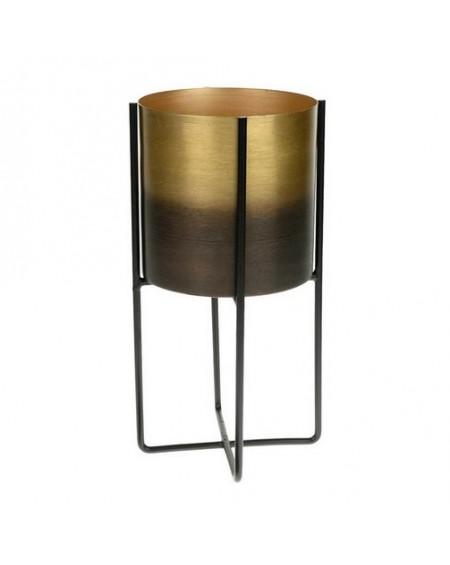 Osłonka metalowa na stojaku złoto-czarna