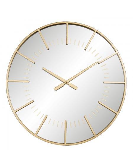 Zegar ścienny lustrzany ze złotem 60 cm