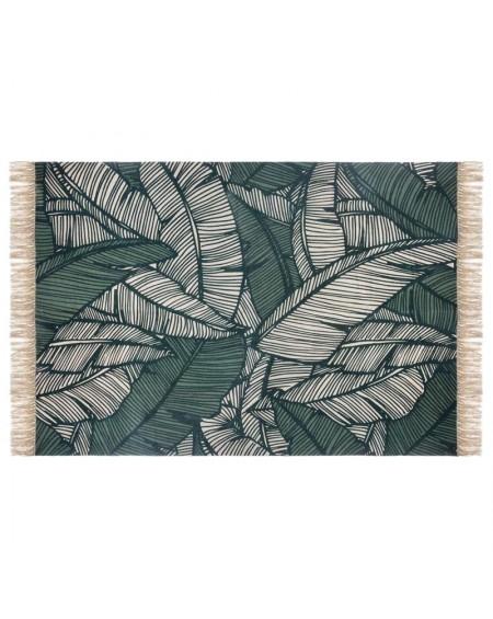 Dywan z frędzlami z motywem liści Exotica 120x1270