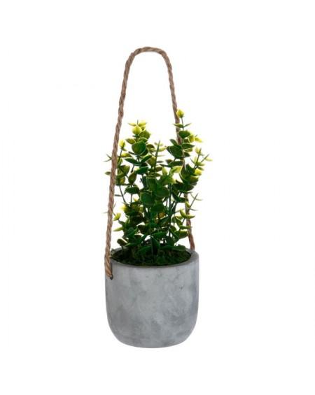 Sztuczna roślina w wiszącej doniczce