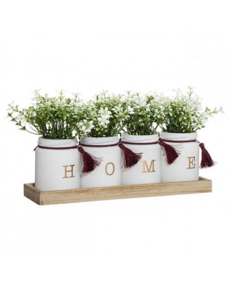 Ozdoba - sztuczne kwiaty w doniczkach IWIS