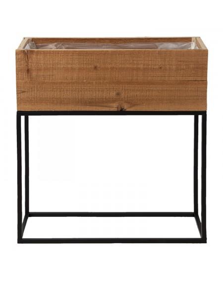 Kwietnik drewniany na metalowej podstawie Loft 60 cm