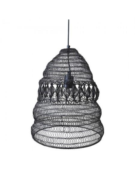 Lampa wisząca z metalowej siatki Fer II