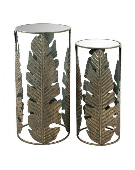 Stolik metalowy 2 szt. Leaves