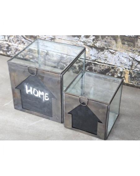 Pojemnik szklany z tablicą większy