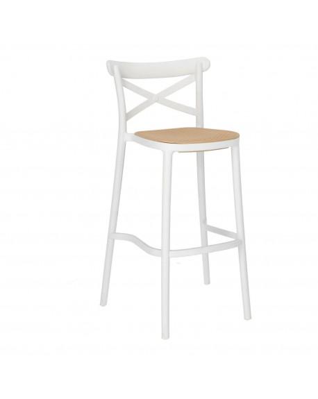 Krzesło barowe plecionka wiedeńska Moreno