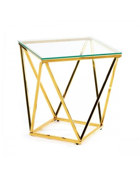 Stolik kawowy Diamond złoty 50 cm