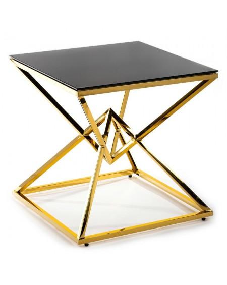 Stolik kawowy metal złoty Maxime 60 cm