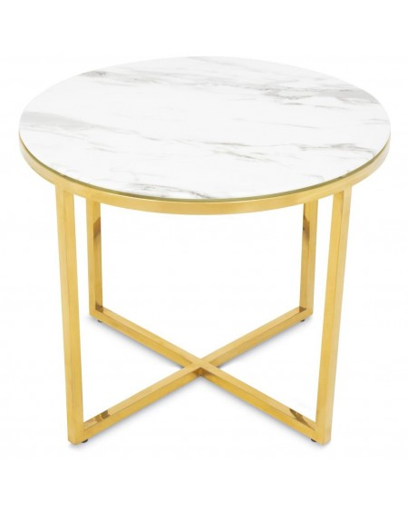 Stolik kawowy złoty Desso 60 cm