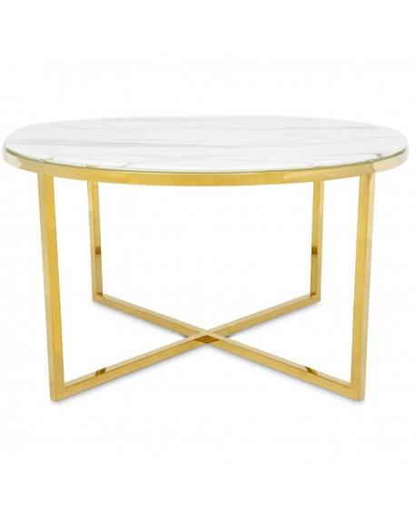 Stolik kawowy złoty Desso 80 cm