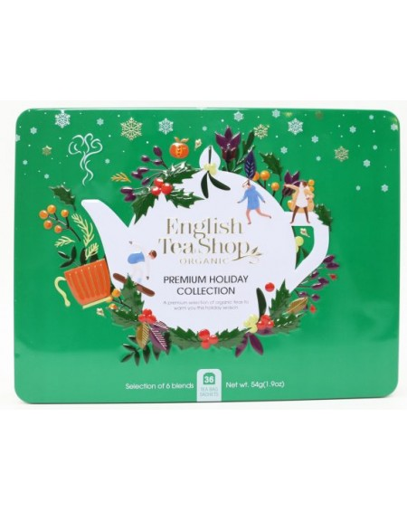 Herbata eko puszka Premium Holiday Collection Green – 36