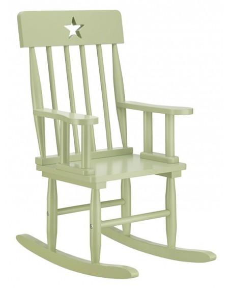 Krzesełko bujane z gwiazdą zielone
