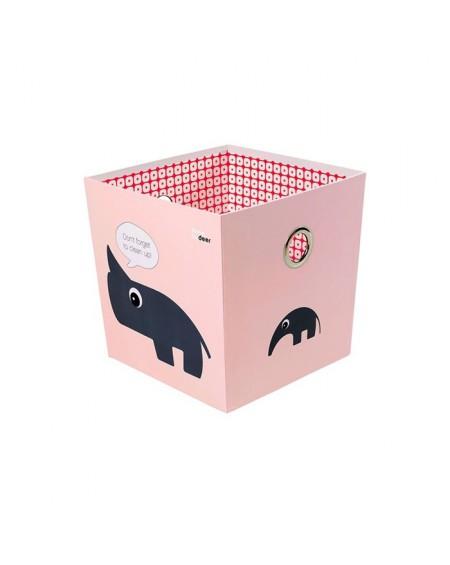 Pudełko ze zwierzakami różowe