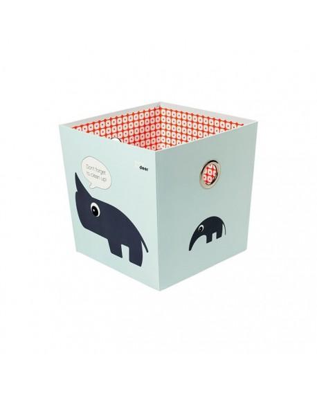 Pudełko ze zwierzakami niebieskie