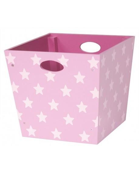 Pudełko w gwiazdki różowe