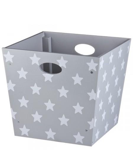 Pudełko w gwiazdki szare