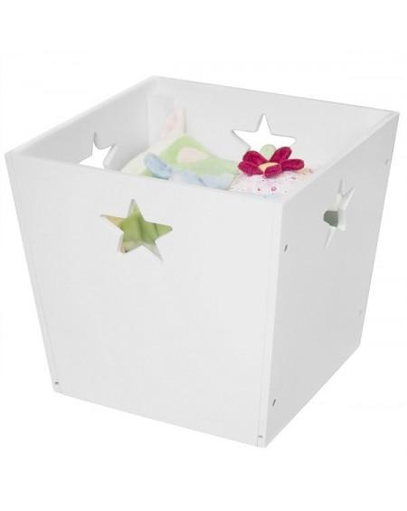 Pudełko z gwiazdkami białe